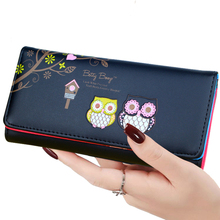 BOTUSI Fashion Luxury Brand Women Wallets PU Leather Wallet Female Coin Purse Wallet Women Card Holder Wristlet Money Bag