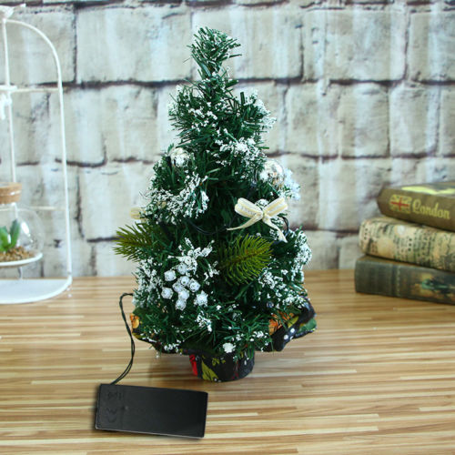 30cm Optical Fiber Color LED Light Emulate Christmas Tree Xmas Decor Luminous Luxury Christmas Tress
