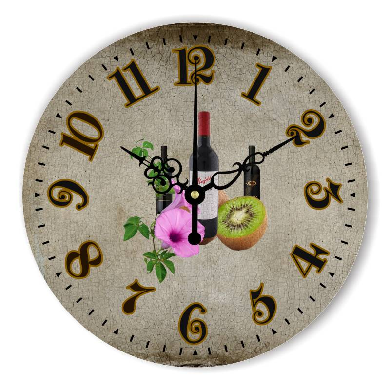 Kitchen decorative wall clock home decoration modern for Dining hall wall decoration