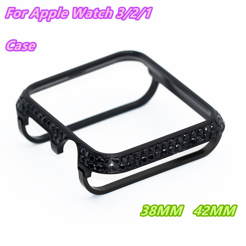 Stainless Steel Diamonds Case Cover 42 38mm For Apple Watch Series 3 2 1 Protector Case
