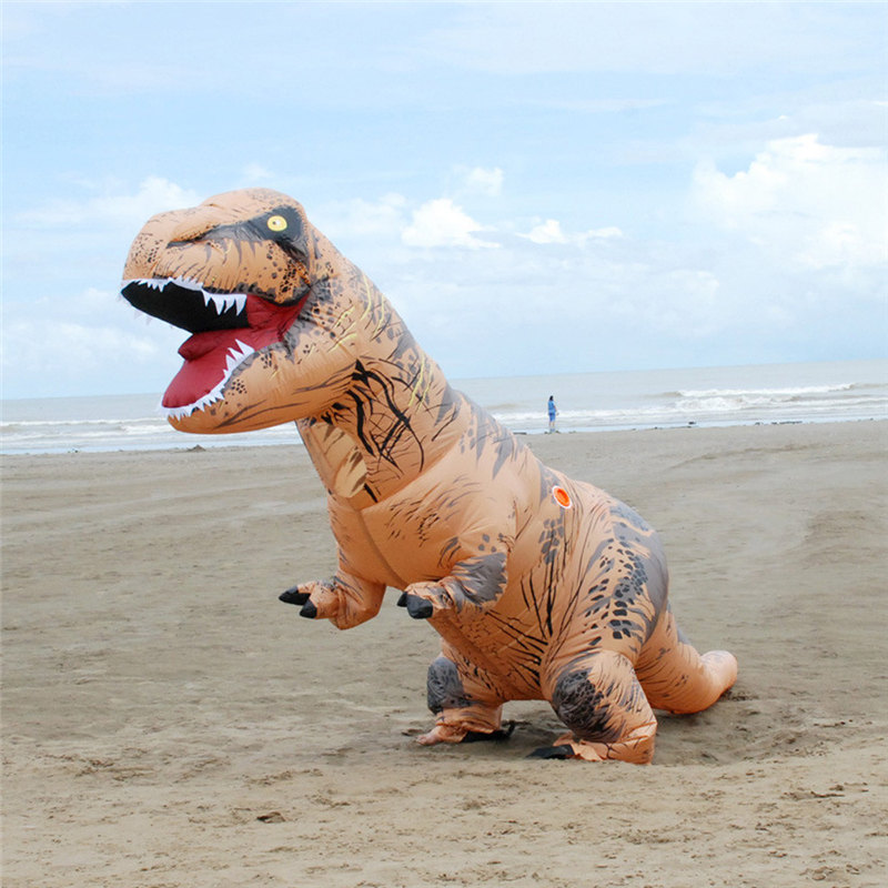 Adult Inflatable T-Rex Trex Dinosaur Blow Up Fancy Costume Suit Party Toys Outdoor Playing Educational Kids Inflatable Toys #10 kids teans giant skeleton inflatable dinosaur costume t rex blow up fancy dress