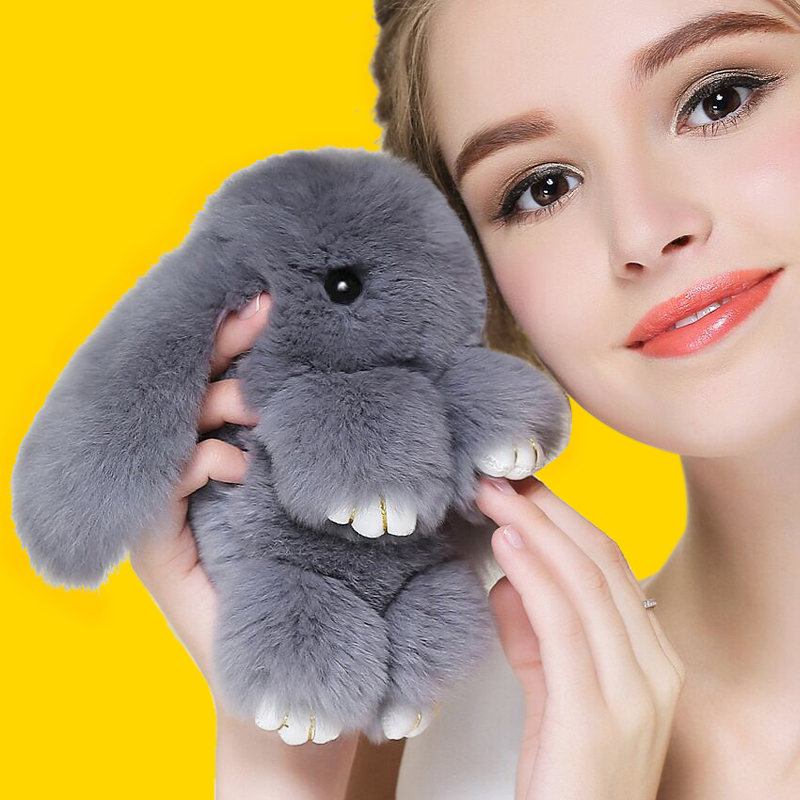 2016 Play Dead Rabbit Fur Rabbit Bunny Keychain Fashion fur pom pom keychain Rabbit Toy Doll