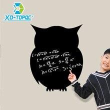 PVC Small Blackboard Children's Room Chalk Board  Wall-stickers Black Board Owl Stickers Memo Message Board Free Shipping