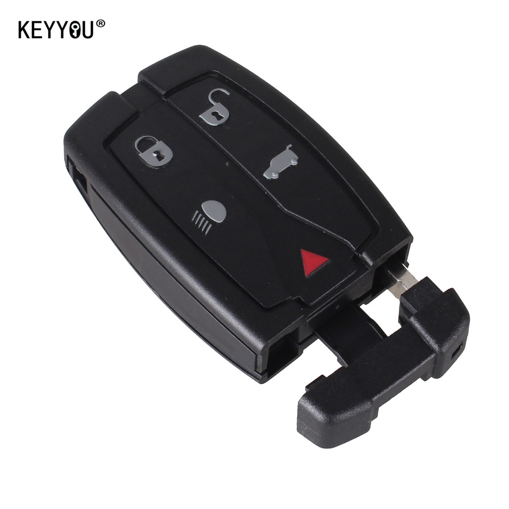 KEYYOU Replacement 5 Button Remote Key Shell Uncut Blade Fob Case Fit For Land Rover Freelander 2 3 Free Shipping new remote key fob 3 button 433mhz id83 for mazda cx 5 ske13e 01 uncut blade