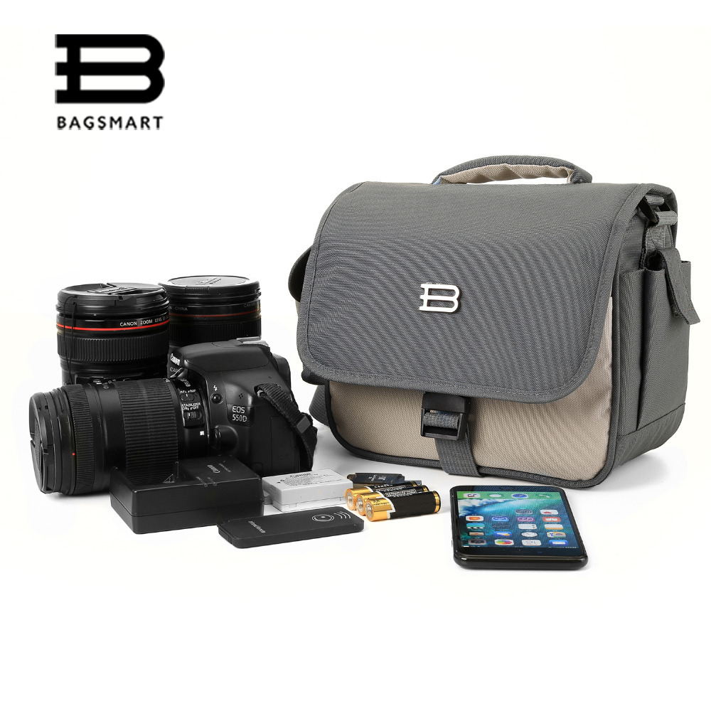 BAGSMART Brand Camera Bag For Photography Video Exchange Lens Travel Bag DSLR Camera Shoulder Bag Camera Case for Canon Nikon top power fashion brand photography camera sling bag camera chest pack bag camera photo bag for nikon canon slr dslr camera len
