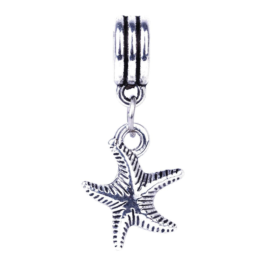 207cded06055 1 pieza Europea Linda estrella de mar colgante encanto DIY plata Cuentas  Amuletos Pandora fit pulsera y Brazaletes joyería de las mujeres