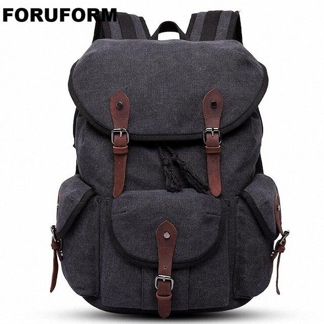 Men Laptop Backpack Rucksack Canvas School Bag Travel Backpacks For Teenage  Male Notebook Bagpack Computer Knapsack Bags LI-2086 241897f660023