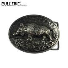 Ковбойские джинсы Bullzine wild boar, Подарочная пряжка для ремня с античной серебряной отделкой, FP-03570-1, подходит для ремня шириной 4 см
