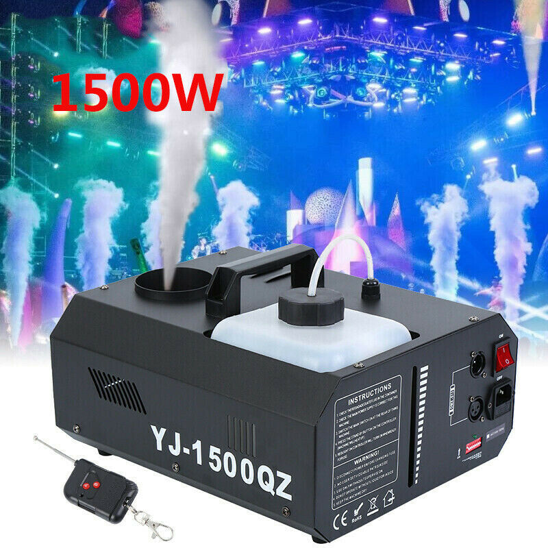 1500W DMX Smoke Machine Vertical Fogger UpSpray Smoke Shot Fog Machine W/ Wireless Remote Control