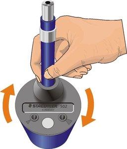 Image 5 - Staedtler 502 Mars pointeur de plomb à Action rotative et baignoire pour Staedtler Mars 780C/788 crayon mécanique technique 2.0mm fils