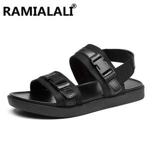 98321d3969ff ramialali Summer Black Sneakers Beach Sandals Men Shoes