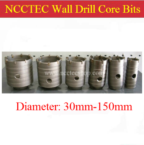 4'' inches NCCTEC EXCELLENT 100mm diameter carbide wall hole drill core bits cutters NCW100 | FREE shipping [sds max cross head] 40 520mm 1 6 carbide wall core drill bits ncp40sm520c for hole drill machine