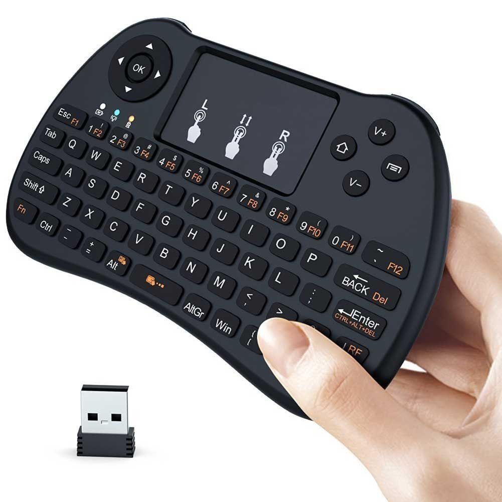 2.4GHz Mini Wirless Touchpad Keyboard For PC Pad Xbox 360 PS3 Google Android TV Box HTPC IPTV QJY99