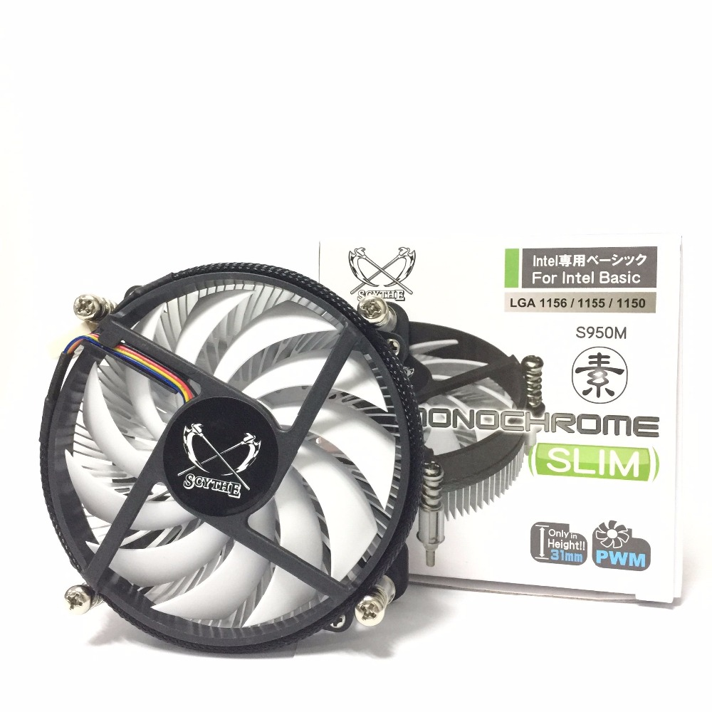 SCYTHE S950M PC Computer desktop Intel CPU Radiator processor coolers fan LGA 1155 1150 1151 1156 CPU cooling fan 2200rpm cpu quiet fan cooler cooling heatsink for intel lga775 1155 amd am2 3 l059 new hot
