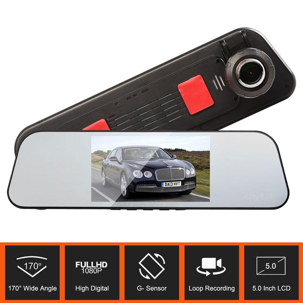 Original Anytek A30 Ultra Thin Mirror Car DVR Full HD 1080P 170 Degree Wide Angle Camera Dual Lens with G-sensor Car Dash Cam
