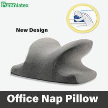 PurenLatex Butterfly Cervical Memory Foam Noon Nap Pillow Office Table School Desk Cushion Slow Rebound Orthopedic Neck Pillow