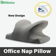 PurenLatex kelebek servikal bellek köpük öğlen şekerleme yastığı ofis masası derslik sırası minderi yavaş ribaund ortopedik boyun yastık
