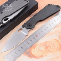 JUFULE Strider SNG TC4 Titanium handle D2 blade Copper washer Folding hunt camping outdoor Tactical multi EDC Tool kitchen knife
