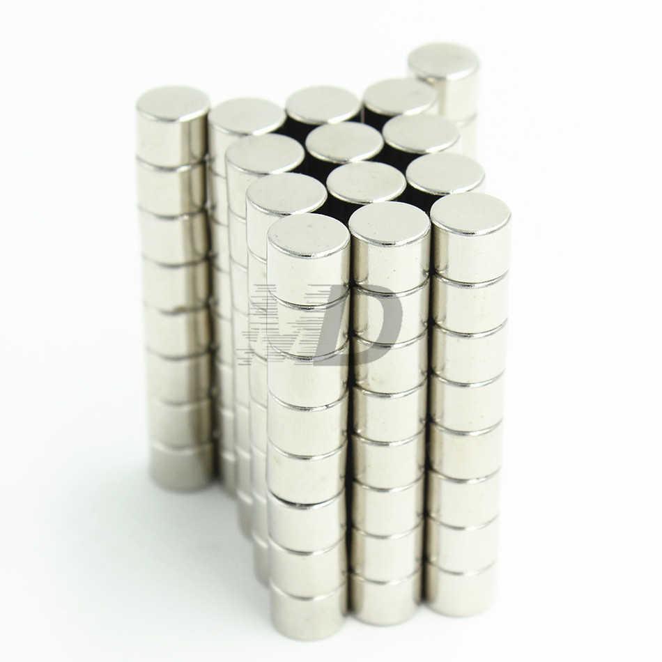 """20 pcs Neodymium N35 Dia 8mm X 6 מ""""מ חזק מגנטים זעיר דיסק NdFeB נדיר Earth מודלים אמנות מקרר דבק מגנט 8x6mm"""