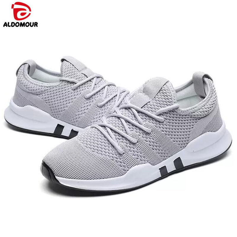 ALDOMOUR Men Sneakers Breathable Shoes Male Female Running