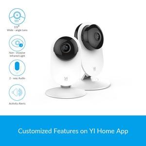 Домашняя камера YI 1080p Home Camera 2PCS Режим ночной съемки Обнаружение движения Двусторонняя аудиосвязь Облачное хранилище