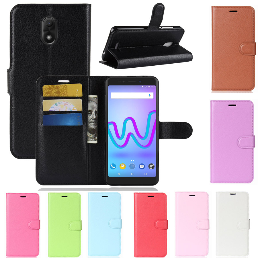 Luxury PU Leather Wallet Flip Stand Cover For Wiko Jerry 3 Card Slots Kickstand Phone Case Bag Funda Coque for Wiko Jerry 3