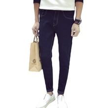 Taddlee Марка Классический лучшие дизайнерские прямые мужчин джинсы Европа Америка стиль джинсы человек тонкий тощий длинный полная длина брюки