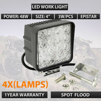 4pcs Lots 4 Inch 48W LED Work Light For Indicators Motorcycle Driving Offroad Boat Car Tractor