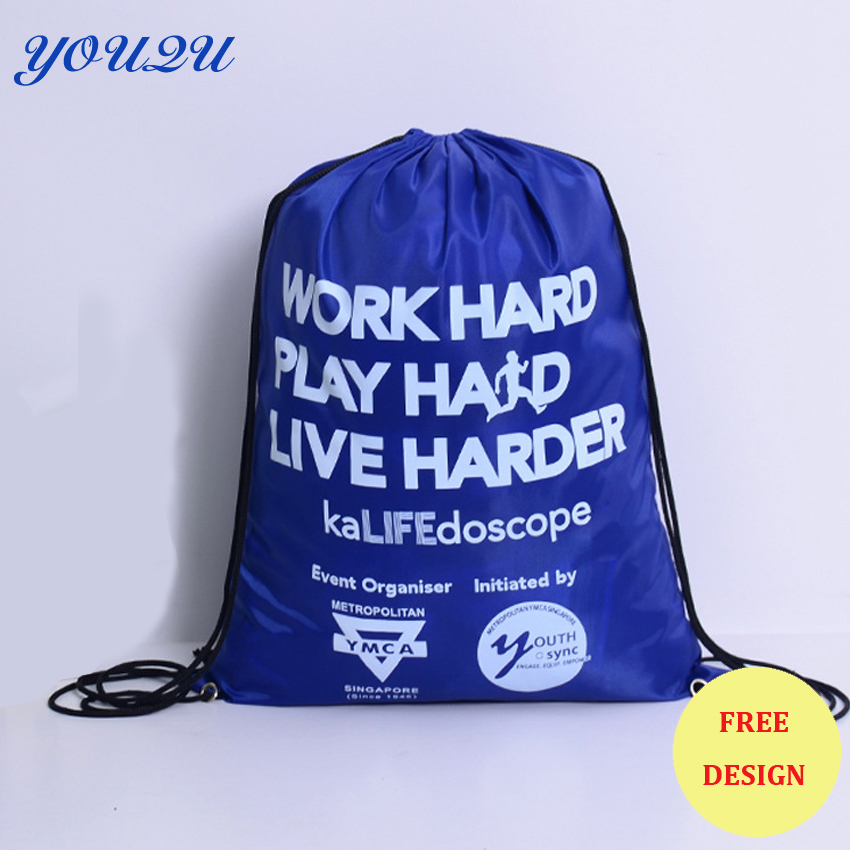 Polyester drawstring bag  polyester drawstring bag  210D polyester drawstring bag Low price escrow accept