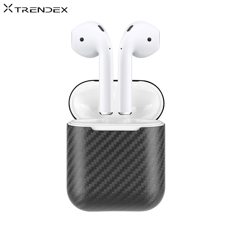 TRENDEX Case For AirPods 1 2 100 Real Genuine Carbon Fiber Ultra Hybrid Case Cover For