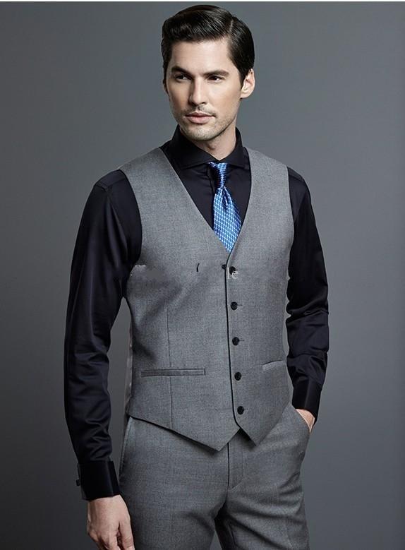 Hot Selling Grey Business Mens Vest Best Man Vest Custom Made Formal ...