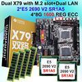 Рабочего Материнская плата bundle HUANAN Чжи двойной X79 материнской платы с M.2 NVMe SSD слот Процессор Intel Xeon E5 2690V2 3 0 ГГц оперативная память 32G (4*8G)