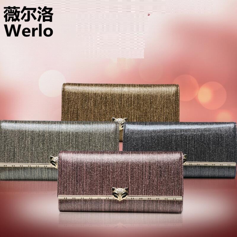 WERLO New Brand Designer High Quality Women Wallets 100% Genuine Leather Long Ladies Clutch Wallet Female Purses Girl Gift SJ169