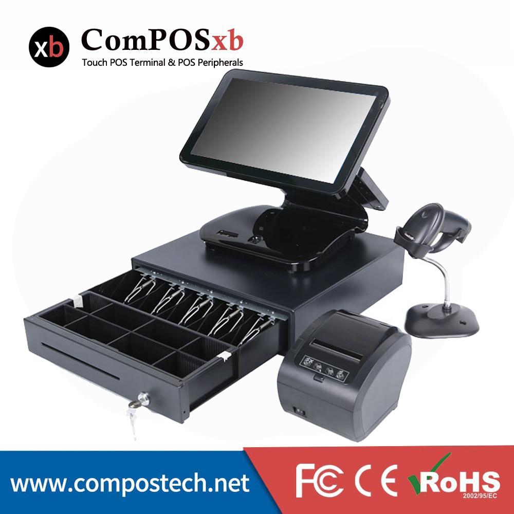 Sistema Pos 15.6 registratori di cassa Attrezzature Ristorante Con Stampante Termica POS Fissato Il Trasporto Libero