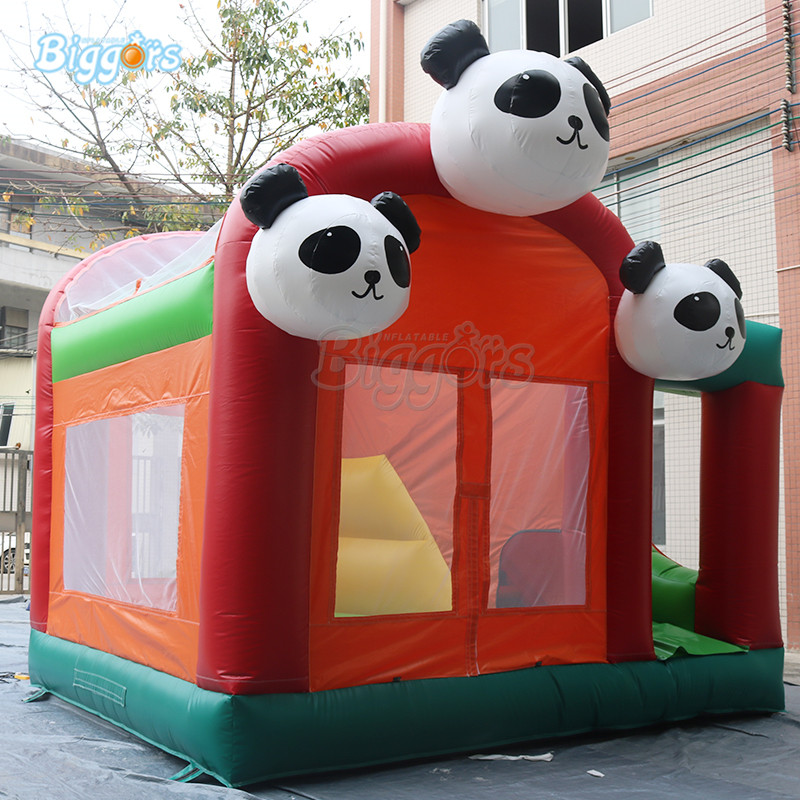 цена Panda Commercial jumping bouncy castle bounce house bouncer slide game giant inflatable combo