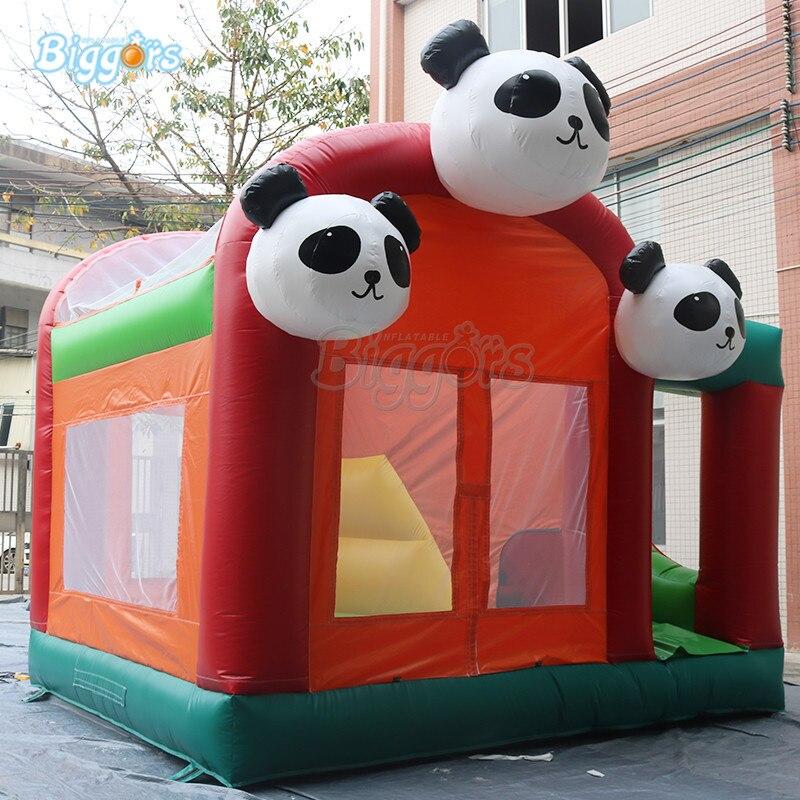 Panda Commercial sautant château gonflable rebond maison videur toboggan jeu géant gonflable combo