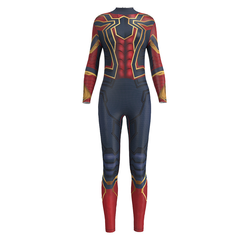 Sexy Cosplay Iron Spiderman 3D Print Women Jumpsuit Tights Adult Costumes Halloween Carnival Purim Zentai Bodysuit Siamese Set