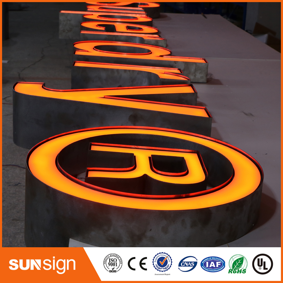 High Brightness Led Frontlit Letter Sign, Frontlit Channel Letter, Stainless Steel Side