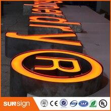 Высокая яркость светодиодный знак буквы с подсветкой, письма канала нержавеющей стали боковые