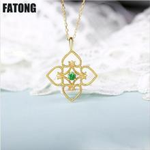 The new 925 sterling silver natural garnet temperament Chinese style necklace women fashion wild. J0137