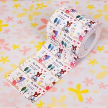 Free Shipping 3 Pcs Cartoon Girl Toilet Paper Tissues Roll Novelty Tissue Wholesale