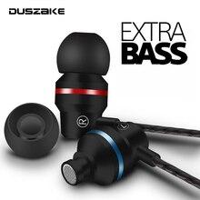 Наушники вкладыши DUSZAKE для Xiaomi, наушники для телефона, басовая стереогарнитура, наушники с металлическим проводом, Hi Fi наушники с микрофоном для Samsung