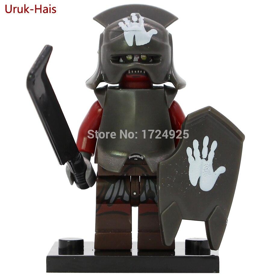 все цены на Single sale Uruk Hai Figure The Lord of the Rings Uruk-Hais Building Blocks sets models Hobbits Bricks Toys PG520 онлайн