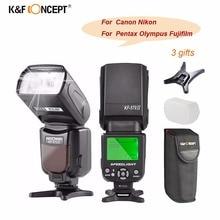 цена K&F Concept KF-570 II Camera Wireless Flash Speedlite Universal for Canon Nikon Pentax Olympus Fujifilm Free Ship From Russia онлайн в 2017 году
