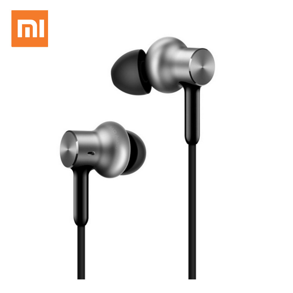 Original Xiaomi Earphone Mi Earbuds Hybrid Pro HD Dynamic Balanced Armature Headset With Microphone original senfer dt2 ie800 dynamic with 2ba hybrid drive in ear earphone ceramic hifi earphone earbuds with mmcx interface
