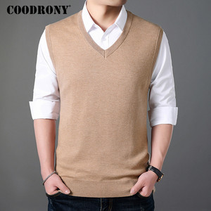 Image 4 - COODRONY Classic V Neck Sleeveless Vest Men Cashmere Wool Sweater Men Clothes 2018 Autumn Winter Business Casual Pull Homme 8145