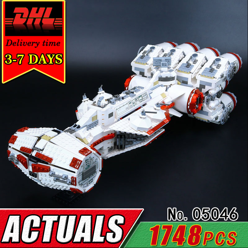 DHL LEPIN 05046 Children Star The Tantive IV Blockade Runner Building Block Set Compatible Brick Military War Toy Boy Kids Gift taming the star runner