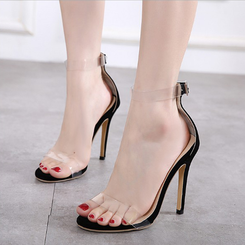 2018 Fashion Women Pumps High Heel Summer Shoes T-stage Dancing Buckle Sandals Wedding Shoes Sexy Party Ladies Thin Heels YBT728 newest women shoes summer high heel pumps dames schoenen t strap high heels platform sandals wedge ladies party wedding pumps