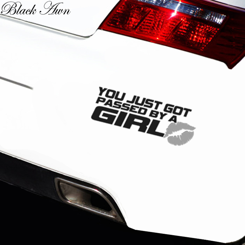 You just got passed by a girl sticker XLXL Funny JDM race car truck window decal D011 in Car Stickers from Automobiles Motorcycles