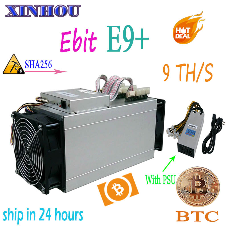 Vecchio minatore ASIC Ebit E9 Più 9TH/s SHA256 Bitcoin BTC BCH mining meglio di Innosilicon T2T T3 M3X m10 antminer s9 Z9 Z11 S17 T9